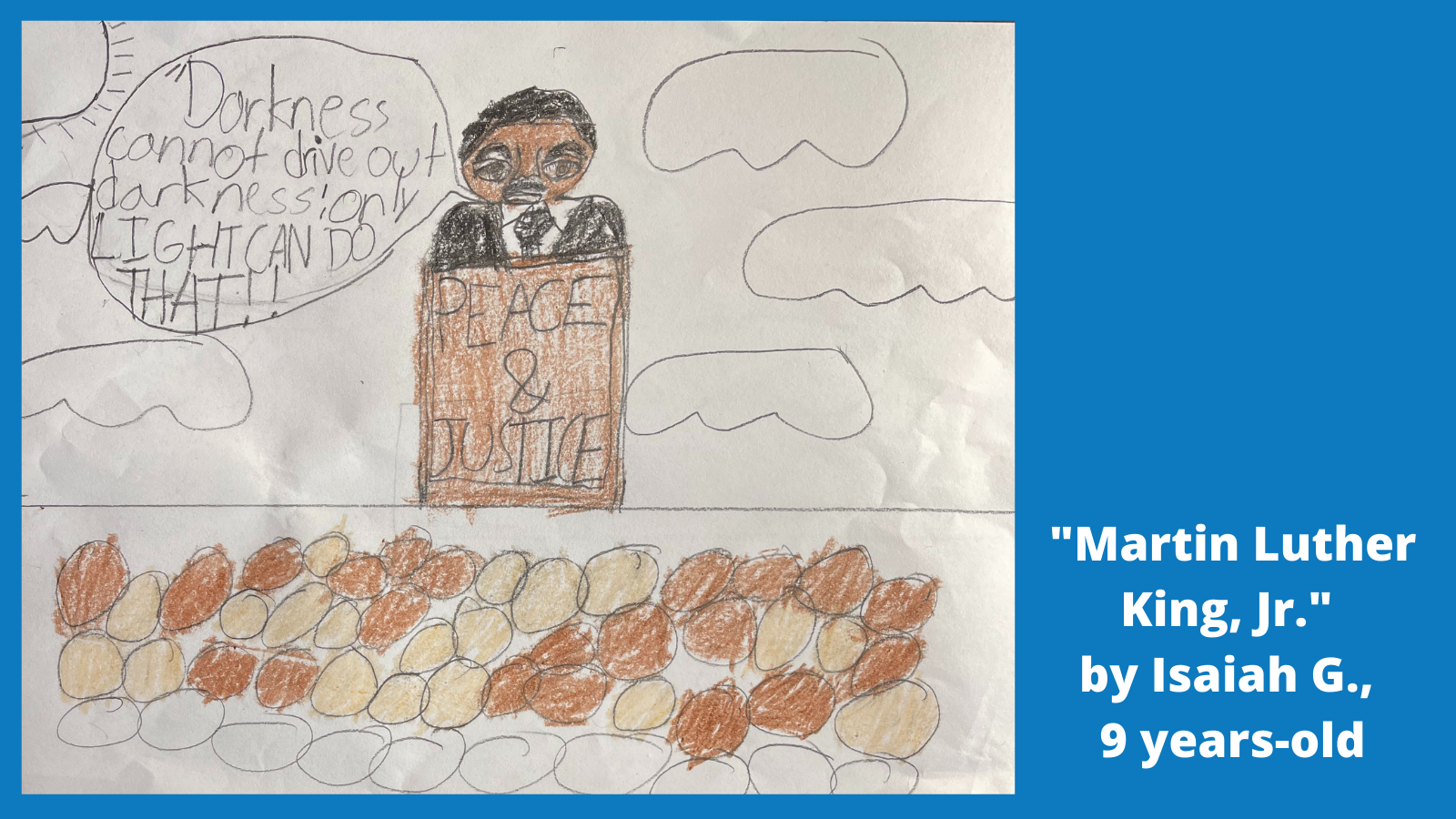 Child's drawing of Martin Luther King Jr.