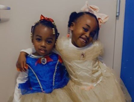 Photo of Kamira and her sister.