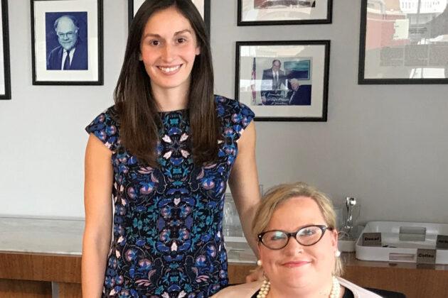Photo of Amanda McGinn and Megan Greer.
