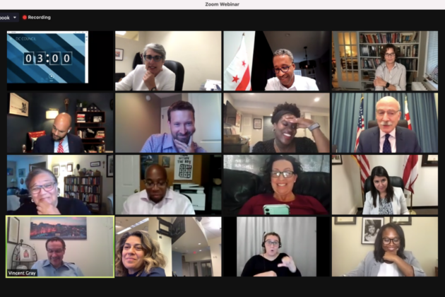 Screenshot of a DC Council session over Zoom.