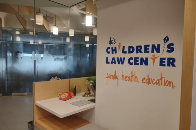 Entry way outside of Children's Law Center office.